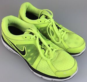 pretty nice 0dcae b13fa Details about Nike Dual Fusion Run Running Shoes Volt Neon Yellow  525760-700 Men's Size 9