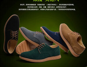 NEW-2015-Suede-European-style-leather-Shoes-Men-039-s-oxfords-Casual-Fashion