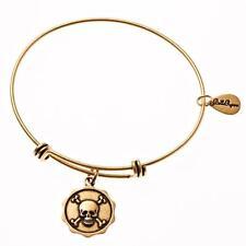Bella Ryann Gold Plated Skull and Cross Bones Charm Bracelet