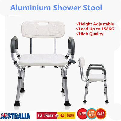 Adjustable Medical Shower Aid Chair Bathtub Bench Seat Bath Stool Armrest Back