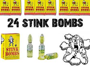 Rotten-Puke-Egg-Smell-Prank-Fart-Stink-Bombs-24-VIALS-8-BOXES-of-3-GAG