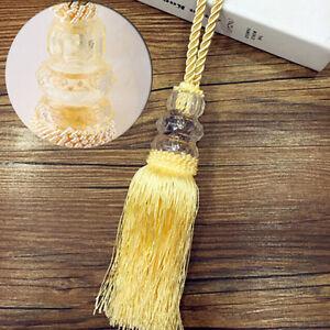 Luxury Crystal Bead Diamond Curtain Rope Tie Back Silk Tassel Holdbacks USHU
