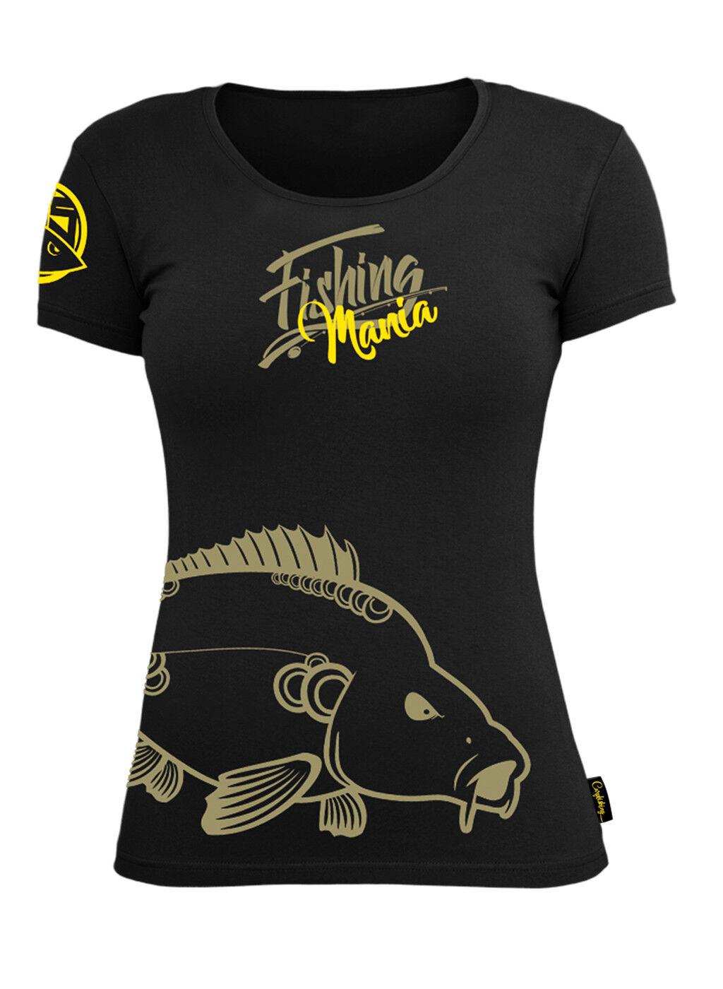 Hotspot Hotspot Hotspot Design T-Shirt Woman Fishing Mania Carpfishing - Collection Mania  | Züchtungen Eingeführt Werden Eine Nach Der Anderen  356de1