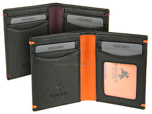 f4983fd44a94 Image is loading Visconti-Mens-Bifold-Slim-Soft-Leather-Wallet-For-