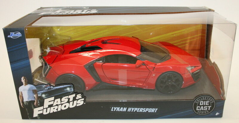 Jada 1 24 Scale 97377 Fast & Furious - Lykan Hypersport - Red