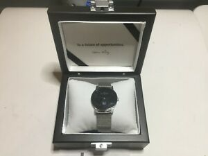 NEW Skagen Ultra Slim Watch Large 33mm Black Face No Battery Silver Display Box