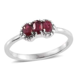 Silver /& Ruby Turkish Puzzle Ring 4 Band silver plated 5 Accent Rubies