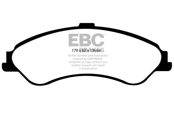 EBC Ultimax Front Brake Pads for Ford (S.Africa) Falcon AU (2000 > 02)
