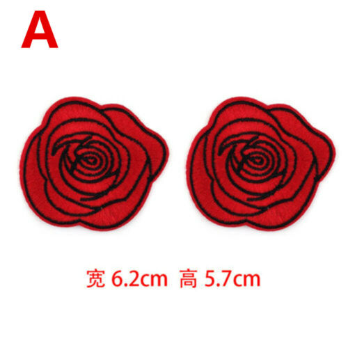 Embroidered Sew Iron On Patches Badge Hat Bag DIY Fabric Applique Clothes Craft