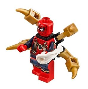 Lego-Marvel-Los-Vengadores-Infinito-Guerra-Hierro-Hombre-Arana-De-Set-76108-nuevo
