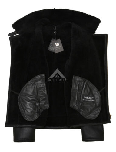 Ww2 schapenvacht bont 49 Flying Raf shearling B3 echte jas zwart Nv 5FwYaqB8xB
