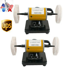 2x US Mini Polisher Polishing Machine Dental Jewelry Lathe Bench buffing Grinder