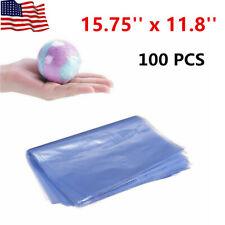 100 Pcs Heat Shrink Film Wrap Bags Pvc Packing Seal Gift Pack 1575 X 118