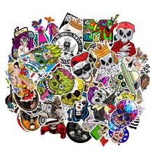 100pcs Punisher Skull Sticker Motorcycle Car Skateboard Stickers Decals Jdm