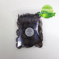 Dark/black Cocoa Butter Unrefined Wafers Form Pure & Organic You Pick Size