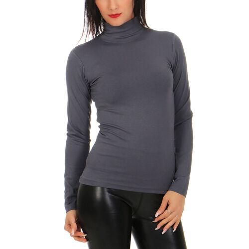 BALI Lingerie Damen Langarm Shirt Rollkragen