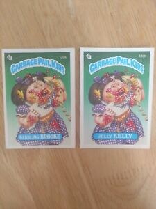 Garbage Pail Kids Series 3 1986 120a Babbling Brooke And 120b Jelly Kelly Ebay