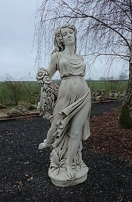 Large Stunning White Stone Garden Lady Statue Female Figure Woman