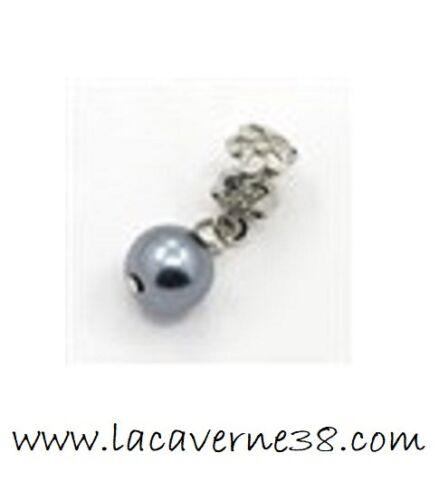 Perle nacré européen 31mm avec bélière trou 6mm charm bracelet pendentif créatio