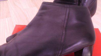 Damen Schuhe Stiefeletten Stiefel schwarz Gr.39 Echte Leder