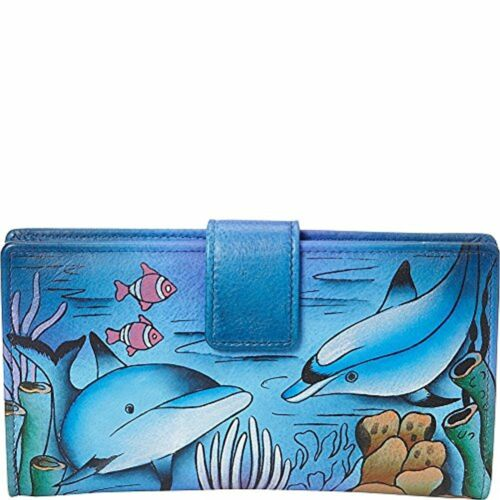 Anuschka Handpainted Leather Two Fold Wallet