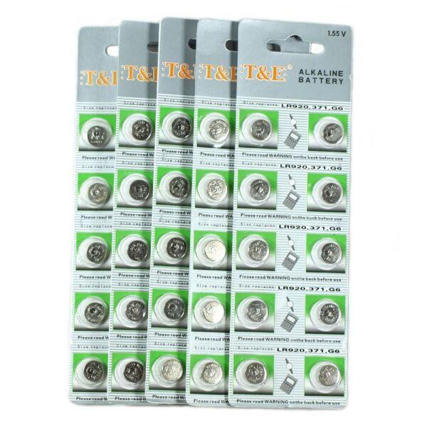 1.55v Ag6 Alkaline Battery V371 D371 605 S921e Gp371 G6 Ag-6 371 Cx921 L921 L921