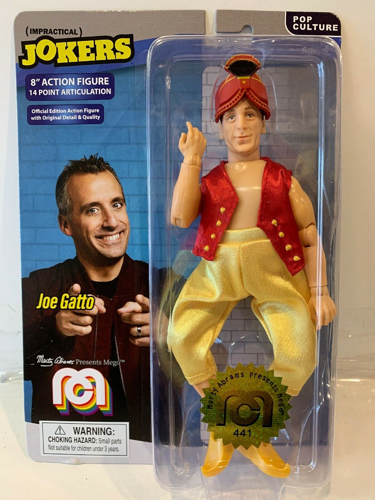 Mego 2019 New Sealed Action Figure Impractical Jokers Joe Gatto Genie