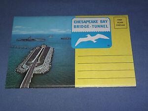 VINTAGE-CHESAPEAKE-BAY-BRIDGE-TUNNEL-PICTURES-POSTCARD