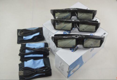 3 X  RF3D Active Rechargeable Glasses  Substitute for Epson RF 3D Glasses  ELPGS