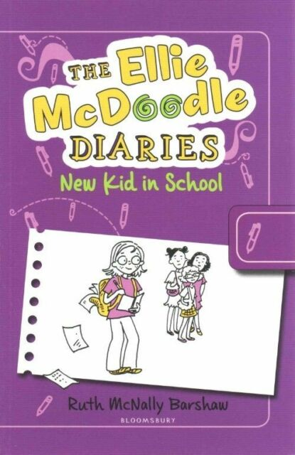 (Very Good)-The Ellie McDoodle Diaries: New Kid in School (Paperback)-Barshaw, R