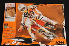 Card Red Bull KTM 350 SX-F 2010 #222 Antonio Cairoli (ITA) MX1 (HW)
