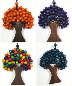 Kette-Lebensbaum-Holzkette-Anhaenger-Natur-Ethno-versch-Farben-Damen-NEU