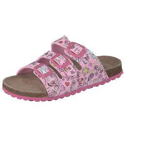 best sneakers 5eb25 e63c1 Details zu Supersoft Kinder Schuhe Hausschuhe Prinzessin Pantoffeln  Schnalle 474-195 Rosa