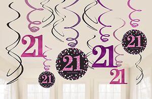Rose-Brillant-Celebration-Joyeux-21e-Fete-pendant-Tourbillons-Decorations-1-60pk