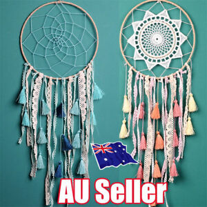 Image Is Loading Chic Large Dream Catcher Lace Tassel Handmade Wall