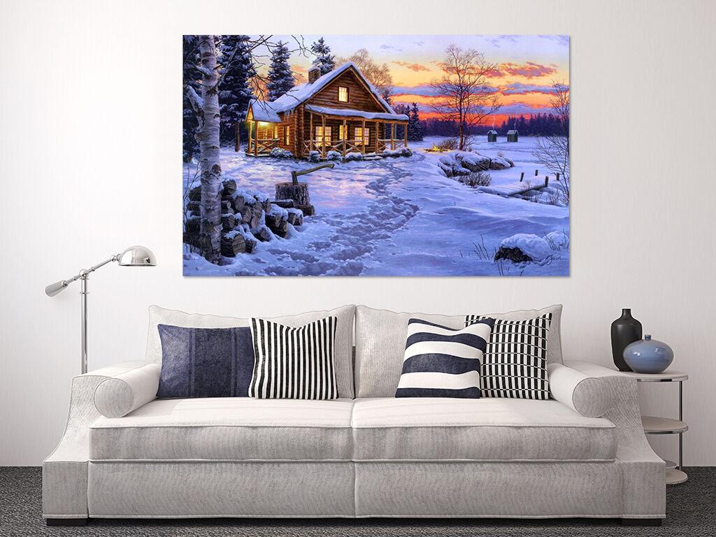 3D Schnee Haus 24 Fototapeten Wandbild Fototapete Bild Tapete Familie AJSTORE DE
