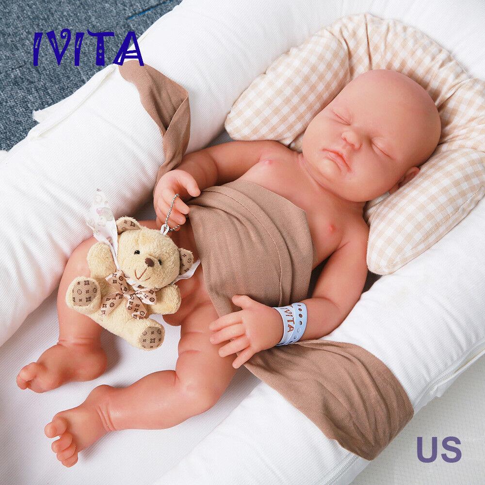 Cuerpo completo 18  Silicona Bebe Muñeca Bebé Niño Reborn Ivita likelife recién nacido toys US