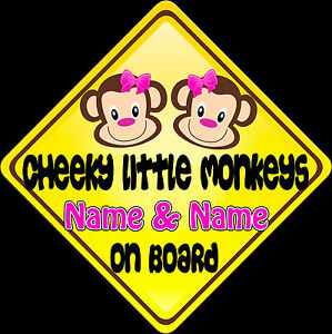 Car-sign-Child-on-Board-Cheeky-Little-Monkeys-Pink