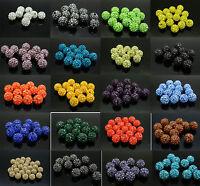10pcs 10mm Faux Diamant Cristal Balle disco Spacer Perles Résultats de Bijoux