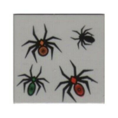 Tile 2 x 2 with 4 Spiders Pattern LEGO 4727 Light Gray Harry Potter