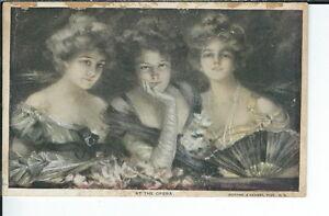 AX-073 - At the Opera, artist Philip Boileau 1907-1915 Golden Age Postcard
