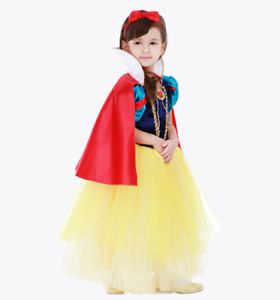 6b02ec2c992 Details about Girls Kids Snow White Princess Dress Kids Cosplay Costume  Party Dress Up O67