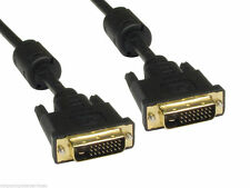DVI-D 24+1 pin Dual Link Cable DVI Male to Male Gold 3m
