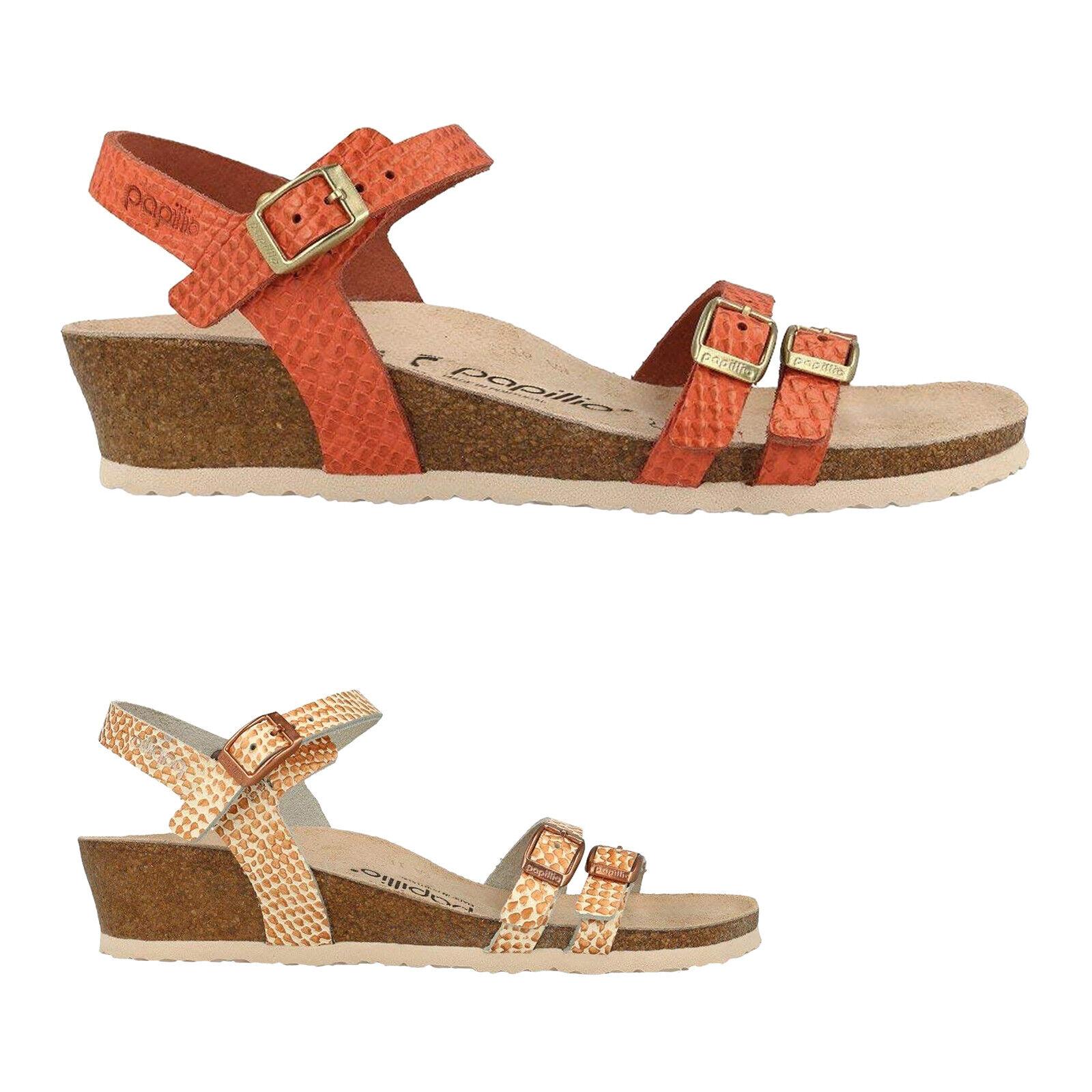 Papillio lana cuero casual floral botín-Strap wedge señora sandalias