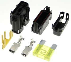 20A-SET-Sicherungshalter-mit-Dichtung-Flachstecksicherung-kompatibel-zu-Typ-MAXI
