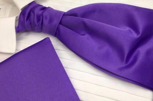 Boy/'s Designer Cravat Scrunchie Matching Pocket Square Satin Finish UK Branded
