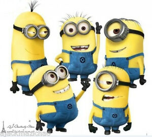 5-Minions-Despicable-Me-2-Wall-stickers-Wall-Decal-Removable-Art-Home-Mural-Deco