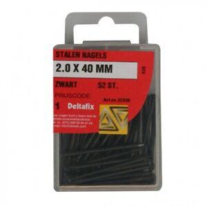 Boîte de 52 Clous Noirs Dimensions 2mm x 40mm Bricolage Travaux Meubles