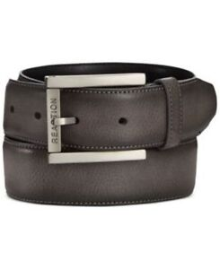 Kenneth-Cole-Reaction-Cut-Round-Belt-Black-Mens-Size-36-New-026217020549