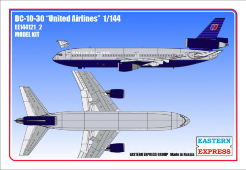 Eastern Express 1//144 DC-10-30 UNITED Airlines EE144121/_2